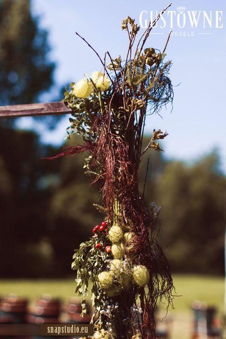 Rustykalne dekoracje na ślub plenerowy / Rustic decorations - wedding outdoors