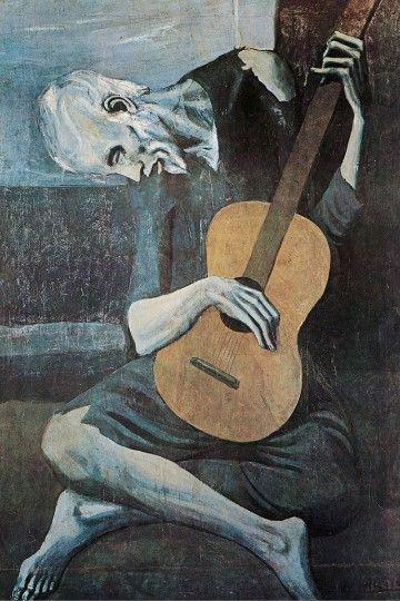 Pablo Picasso Stary gitarzysta - plakat