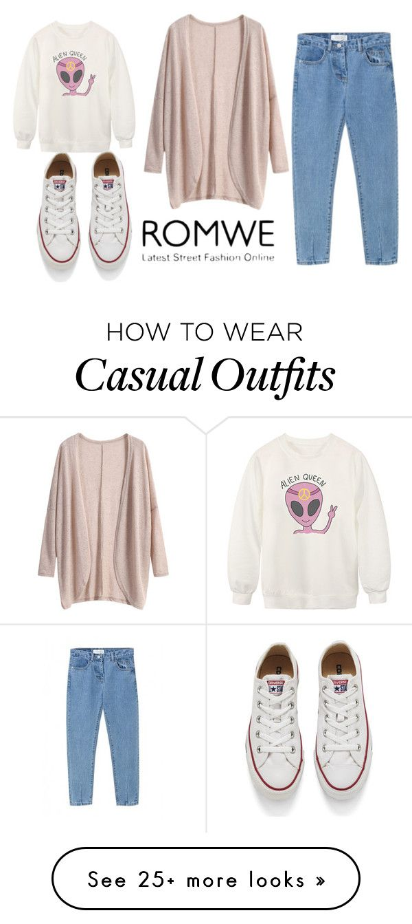"""casual"" by surotkina-no on Polyvore featuring Chicnova Fashion, Converse, women's clothing, women's fashion, women, female, woman, misses and juniors"