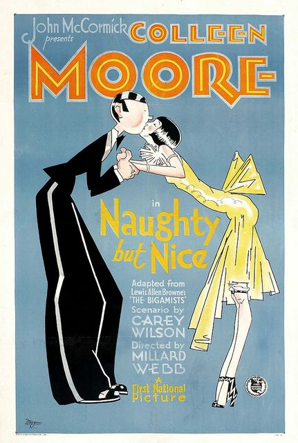 Colleen Moore in Naughty But Nice (1927). Illustration by John Held, Jr. Photo by shanghai Іily, via Flickr.
