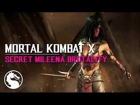 MKX How to perform Mileenas Low Pounce secret Brutality