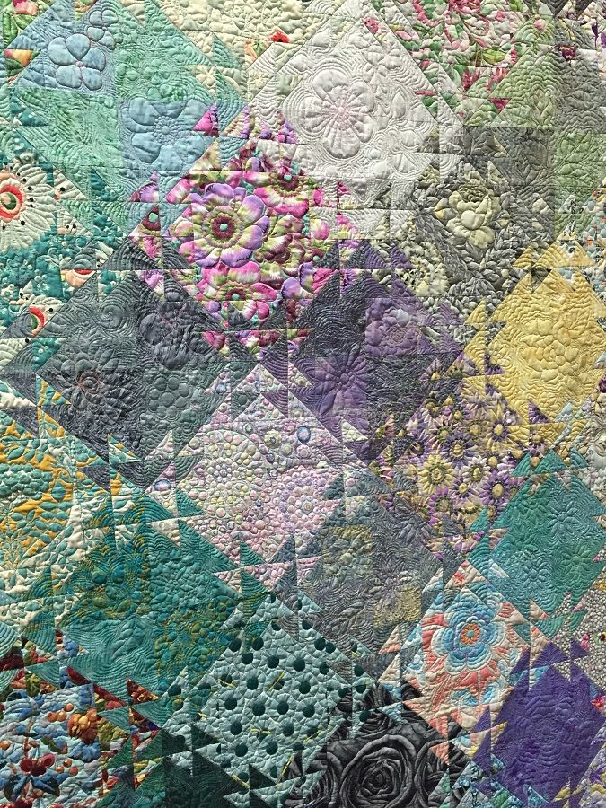 The Winter Garden by Jenny Bowker. Photo by Gracie Oliver. 2015 Canberra Quilters Guild exhibition (Australia).