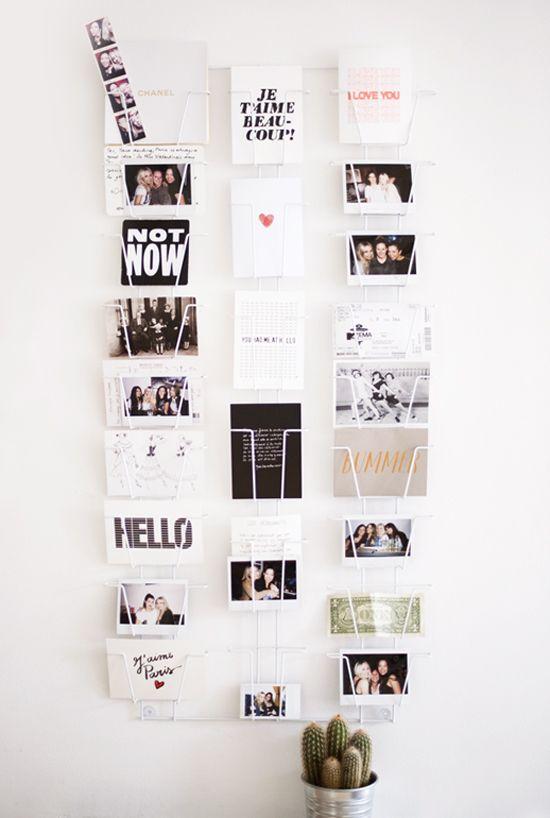 comment afficher des cartes postales. Black Bedroom Furniture Sets. Home Design Ideas