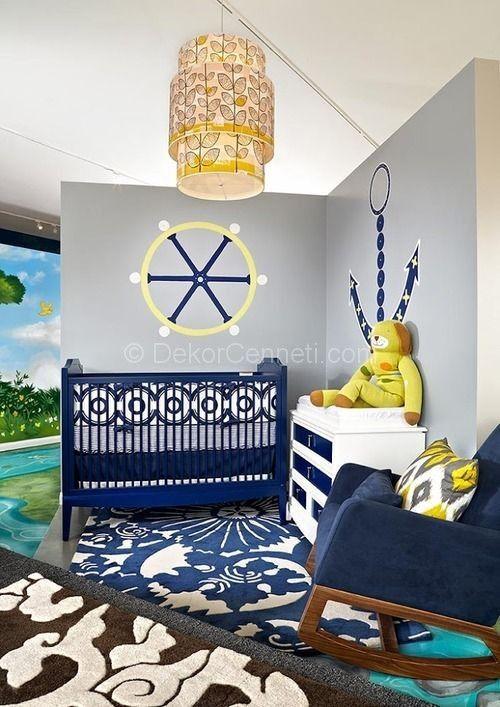 Erkek bebek odası denizci dekorasyon