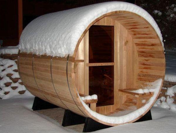 Insolite : Le sauna d'extérieur en forme de tonneau !