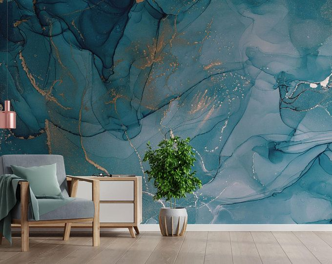 Pink Looks Gold Look Abstract Painting Modern Design Etsy Marble Wallpaper Gold Wallpaper Mural Wallpaper