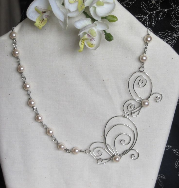 Sharing the Journey Pearl Necklace. $35.00, via Etsy.