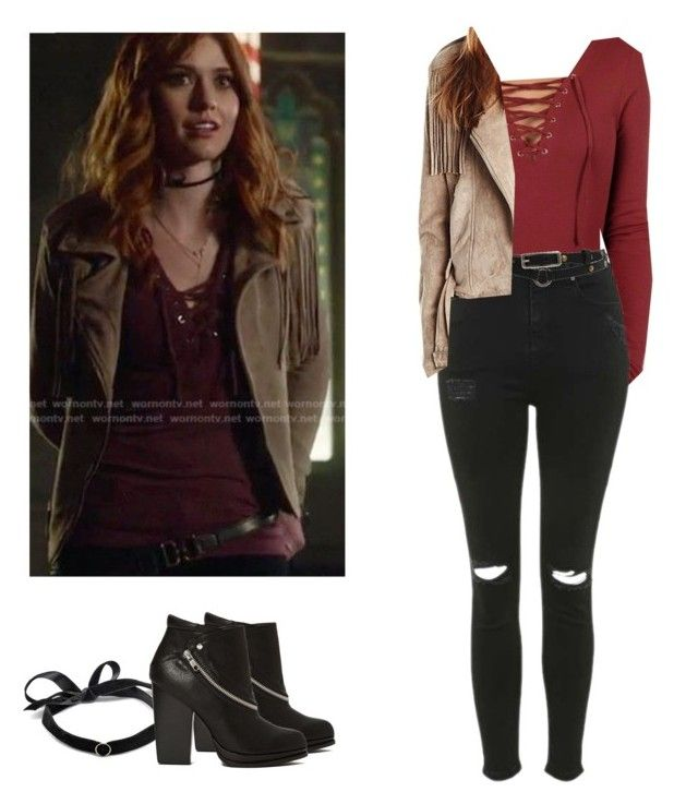 """Clary Fray - Shadowhunters"" by shadyannon ❤ liked on Polyvore featuring Pilot, Topshop, Mateo and Roxy"