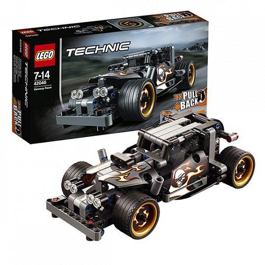 Купить Конструктор Lego Technic 42046 Лего Техник Гоночный автомобиль для побега в интернет-магазине Toy.ru