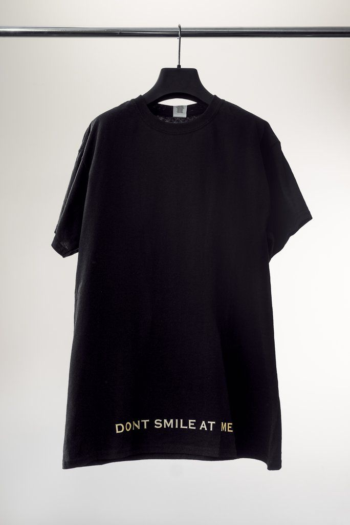 8c4b6eab black don't smile at me tee – Billie Eilish Official Store ...