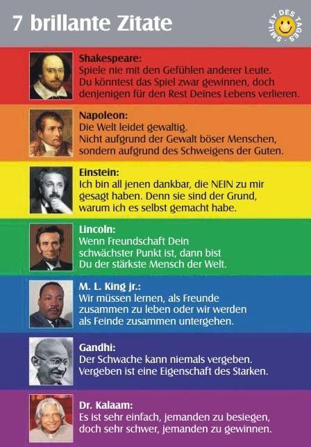 7 brillante zitate