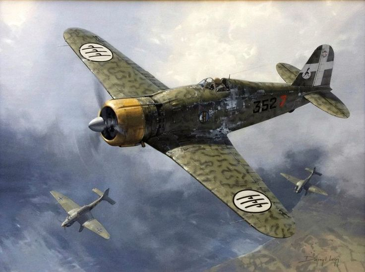 Fiat G-50 Freccia by Darryl Legg - This particular Italian G.50 fought in the late stages of the Battle of Britain escorting Stukas.