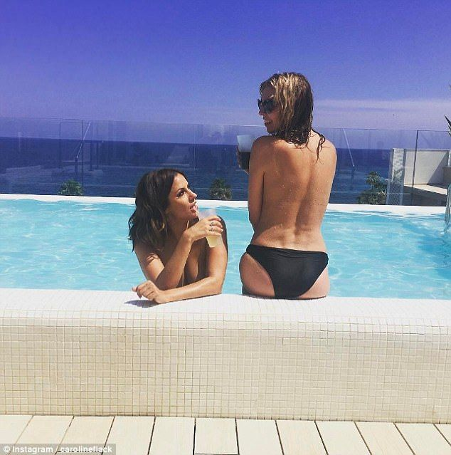 When you work with your bezza:Caroline Flack is in Mallorca ahead of the launch of the new season of Love Island