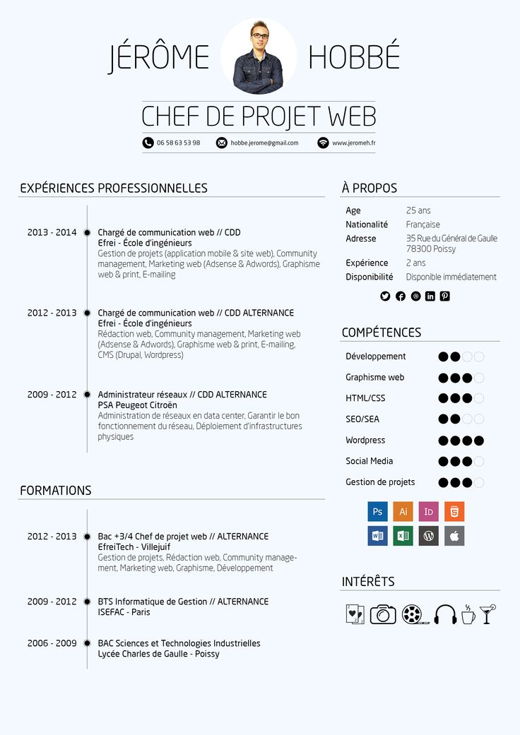 cv for chef