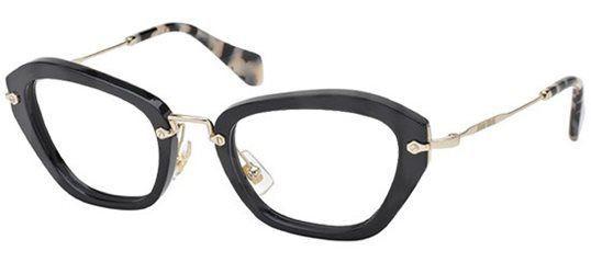 d203b5e2d730 Miu Miu MU 05NV - Noir 1AB1O1 Black eyeglasses