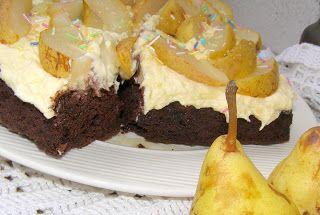 W Mojej Kuchni Lubię.. : czekoladowo-aroniowe ciasto w formie mieszane z kr...