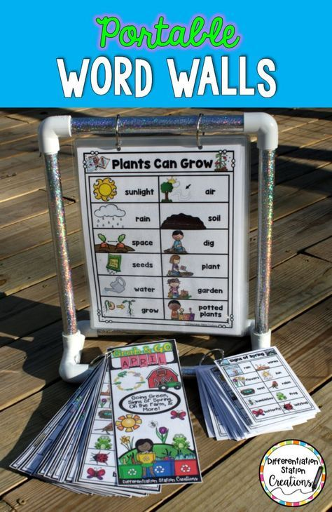 Learn how to create a portable word wall station to enrich your print rich classroom! Use any type of word wall- thematic, traditional, monthly, or anything your heart desires...
