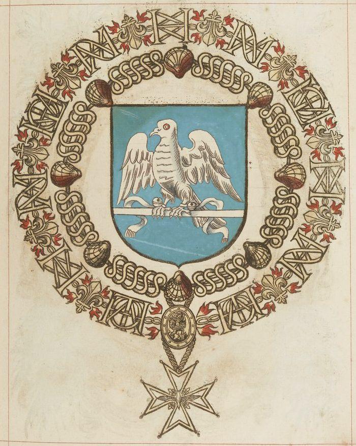 Tout sur l'héraldique : dessin de blasons et d'armoiries: Armorial du Saint-Esprit : Jean de LEAUMONT
