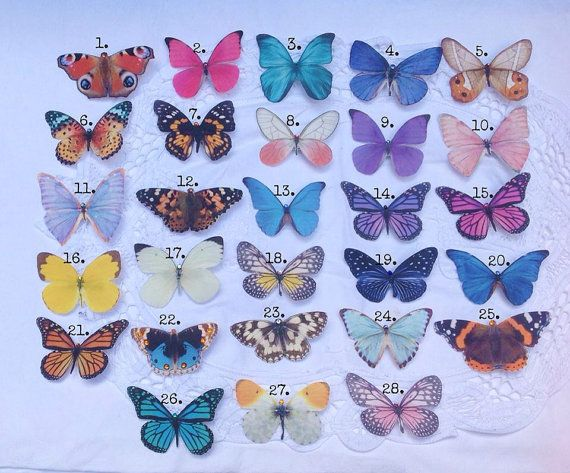 Hand cut silk butterfly hair clips  Pick and mix by flutter2me, £22.00
