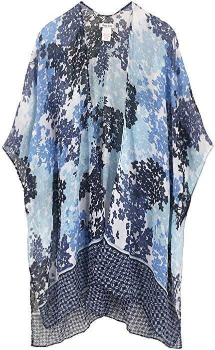 8405c62931262 Moss Rose Women's Beach Cover up Swimsuit Kimono Cardigan with Bohemian  Floral Print (Color22) at Amazon Women's Clothing store: