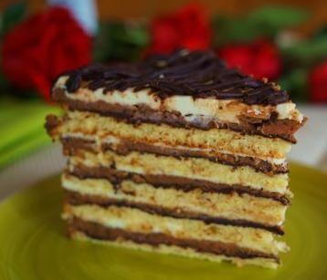 Cake «Princess Sissi» Ingredients Korzh 6 pieces chicken egg. caster sugar 75g lemon peel 1 ch. l. vanilla extract 1 hour. L. 120 g flour Oil Cream....