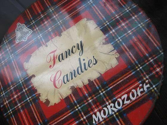 モロゾフ  ファンシーキャンディ缶‐ドロップの二倍ほどある大きなフルーツのハードキャンディ