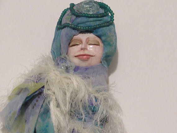 OOAK Art Doll December Calendar Doll Handmade Art Doll
