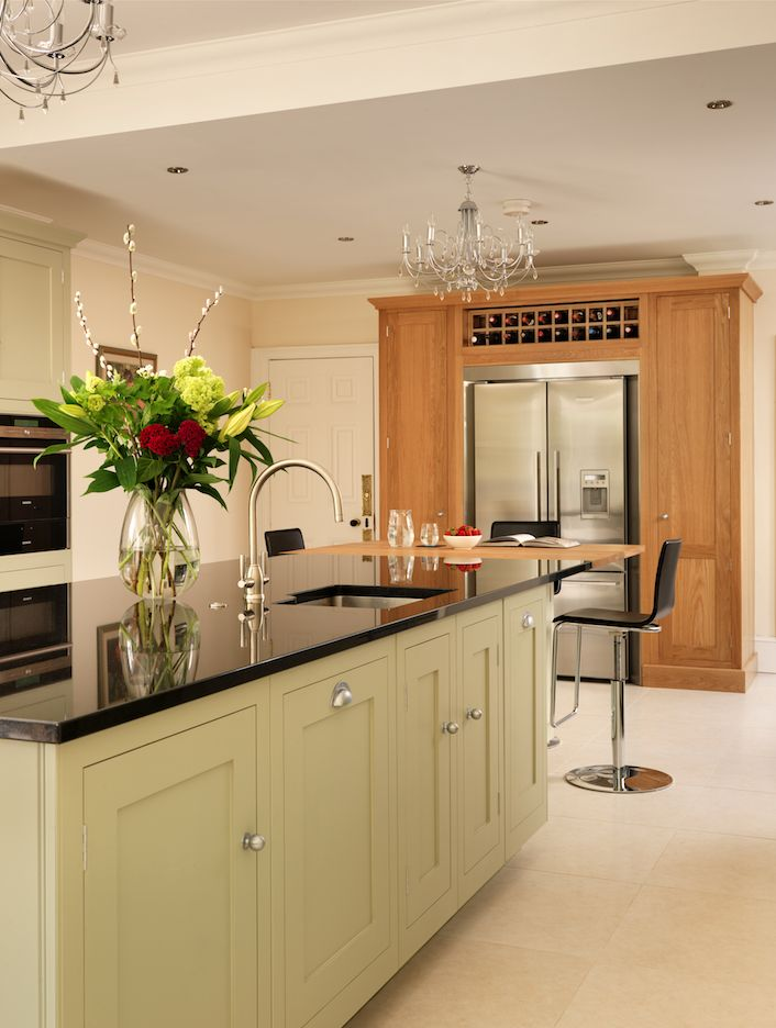Harvey jones shaker kitchen painted in farrow ball 39 french grey 39 with oak and zimbabwe for Kitchen designs zimbabwe