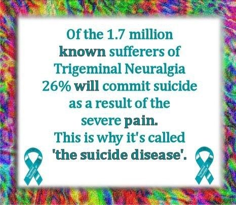 Since being diagnosed with Trigeminal Neuralgia I want to inform people about the awareness of this condition. It doesn't make life easy, it's very excruciating pain that you deal with each day/night. But I won't give up. I will get through this.