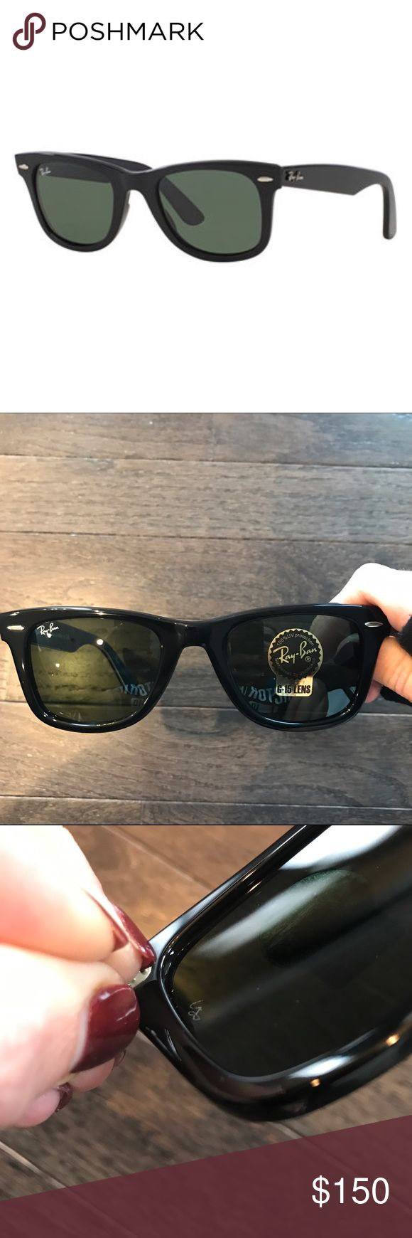 Black Ray Ban Wayfarer Black frame. 50 mm no case Ray-Ban Accessories Sunglasses