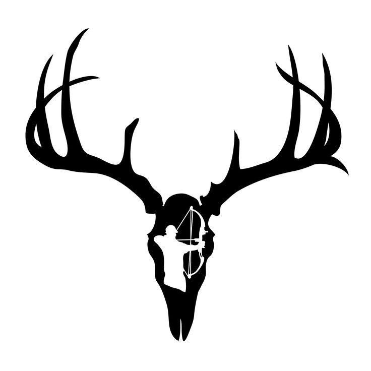 Deer skull decal - viewing