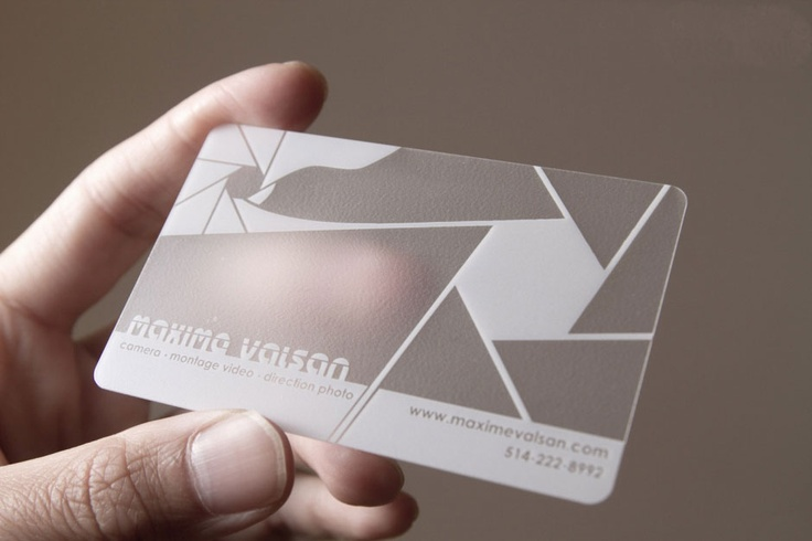 luxury frosted transparent business cards, 1 color white - http://www.bce-online.com/en/shop/business-cards/business-cards-opaque-frosted-translucent.html <<< repinned by www.BlickeDeeler.de