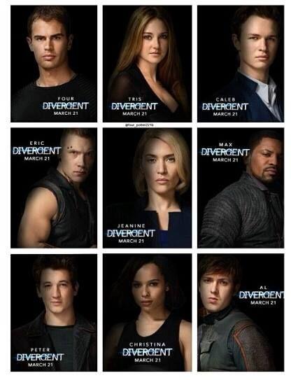 Divergent cast portraits!  And no Uriah!!!! :''(  Stupid pansycake movie folk!! >:(