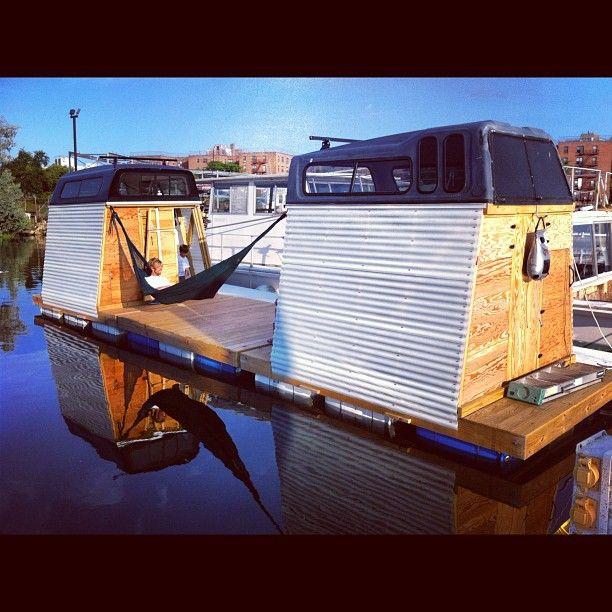 homemade houseboat new york - Cabin Home Built Houseboat Plans