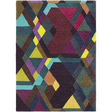 Iconic Hand-Tufted Purple/Red Area Rug