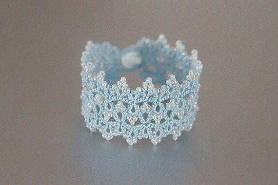 Tatting lace bracelet pdf pattern Cloud Palace от TheKimAndI