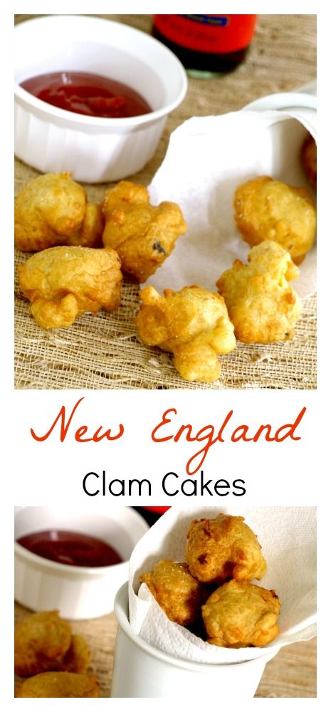 New England Clam cakes are often served at restaurants and roadside stands and are eaten as a finger food.