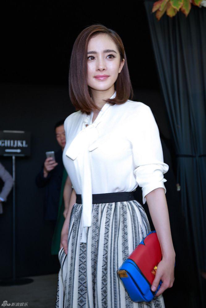 Yang Mi in Paris for fashion week http://www.chinaentertainmentnews.com/2015/10/yang-mi-in-paris-for-fashion-week.html