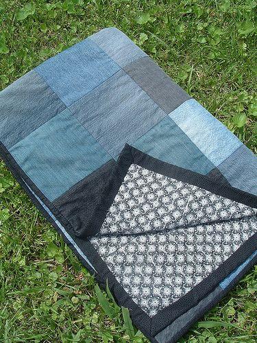 I've been saving up old jeans for our Jean Quilt.  November 25, 2011 (blog post)