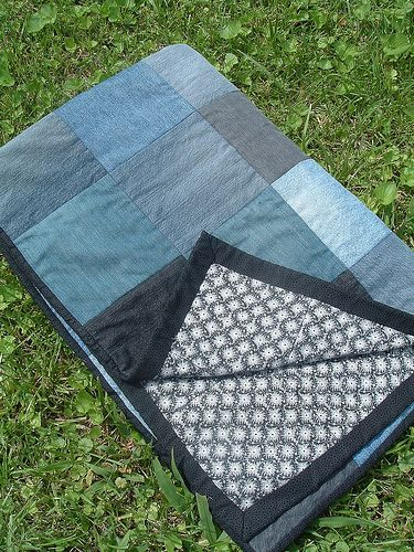 I've been saving up old jeans for our Jean Quilt.  November 25, 2011 (blog post)