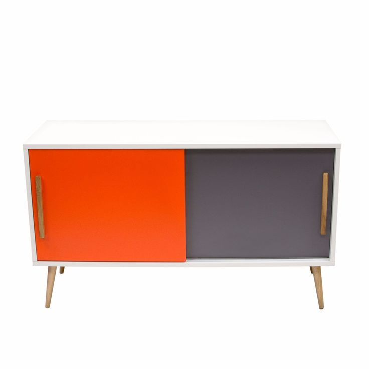 Tangent Tri-Color Storage Cabinet with Oak Legs by Diamond Sofa. The Tangent Collection by Diamond Sofa offers a retro contemporary look into the world of color, form and function.  With the Solid Oak Legs of the collection providing the basis, Greys and Oranges and Whites are inter-mixed to provide a fresh and appealing presentation.  Multi-Level Display, Storage, Work Space, the Tangent Collection has something for everyone.  Collection includes:  Cocktail Table; End Tables; Night Stands…