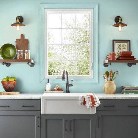 KILZ COMPLETE COAT Interior/Exterior Paint & Primer in One #RG180-02 Vintage Aqua,  1 gal,  Flat