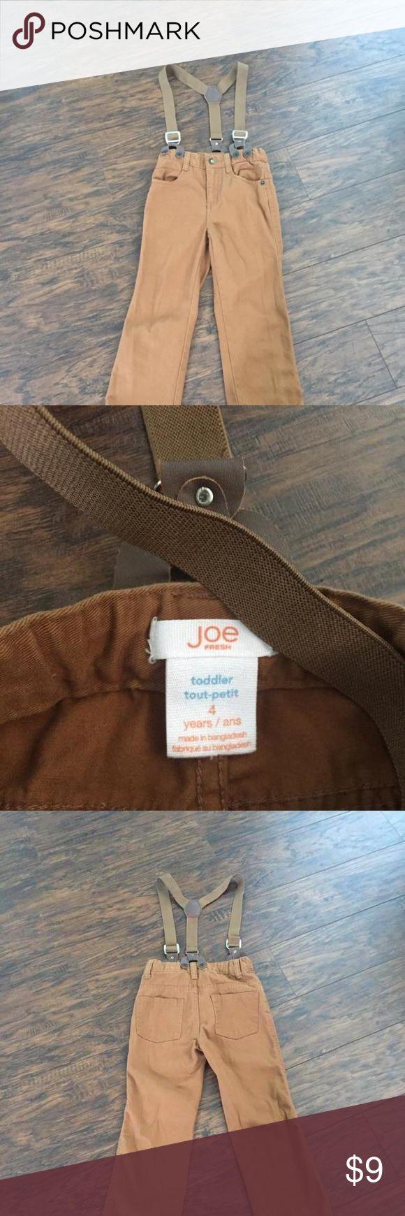 Suspender pants 4T Suspender pants size 4T. Adjustable waist Joe Fresh Bottoms