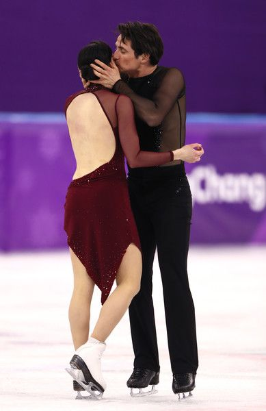 Tessa Virtue and Scott Moir of Canada compete in the Figure Skating Ice Dance Free Dance on day eleven of the PyeongChang 2018 Winter Olympic Games at Gangneung Ice Arena on February 20, 2018 in Gangneung, South Korea.