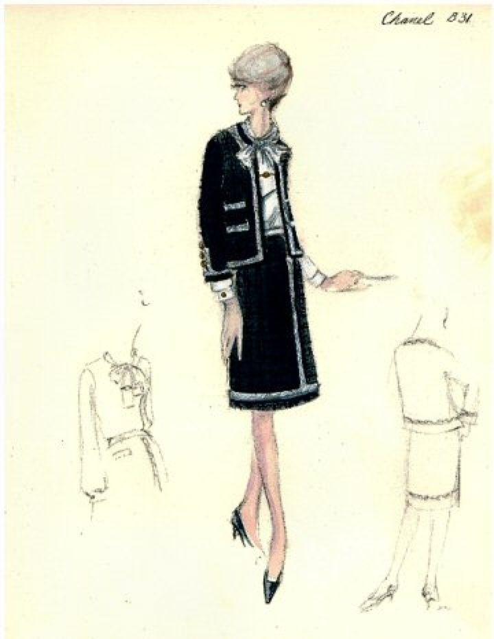 Chanel Väskor Vintage : Vintage chanel fashion sketches pixshark