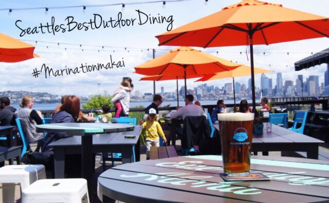 Marination Ma Kai #Seattle #BestOutdoorDining #Inexpensive Great views & take a walk around Alki Beach afterwards. You can also get there from downtown on the water taxi.
