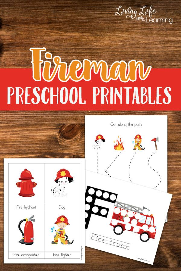 If you have a fireman lover these adorable fireman preschool printables will make their day, download them here now. via @Moniksca