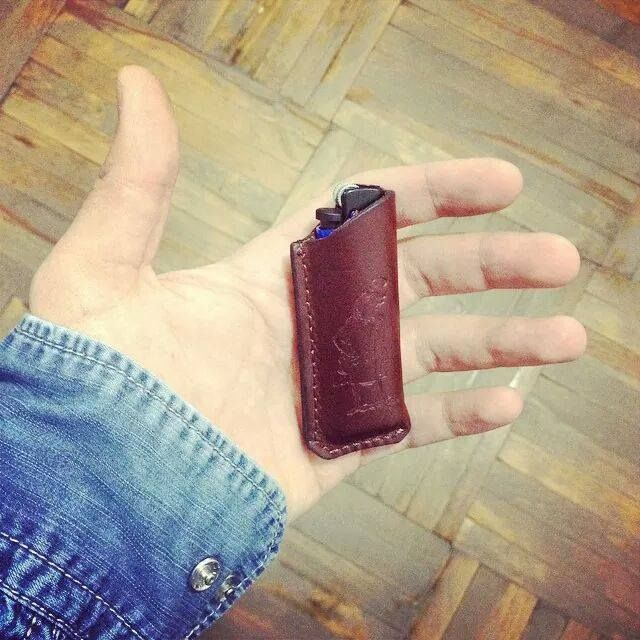 Leather cover for your lovely lighter / Кожаный чехол для вашей любимой зажигалки