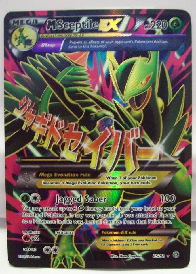 MEGA SCEPTILE EX FA Holo 85/98 XY Ancient Origins ULTRA RARE Pokemon Card