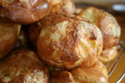 Gougères - French Cheese Puffs. These are pretty much the same ones I make every year.